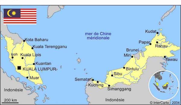 malaisie carte monplanvoyage