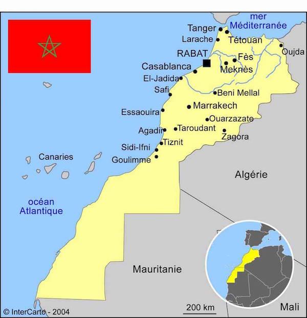 maroc carte